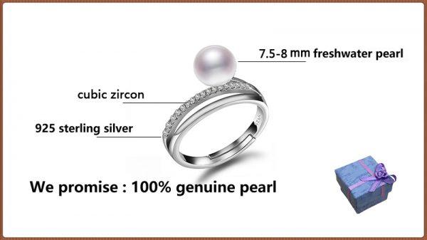 100% Genuine Great Design Pearl Ring